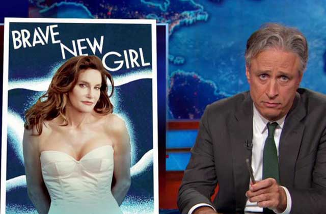 Jon Stewart réagit à la perfection à la couverture de Caitlyn Jenner