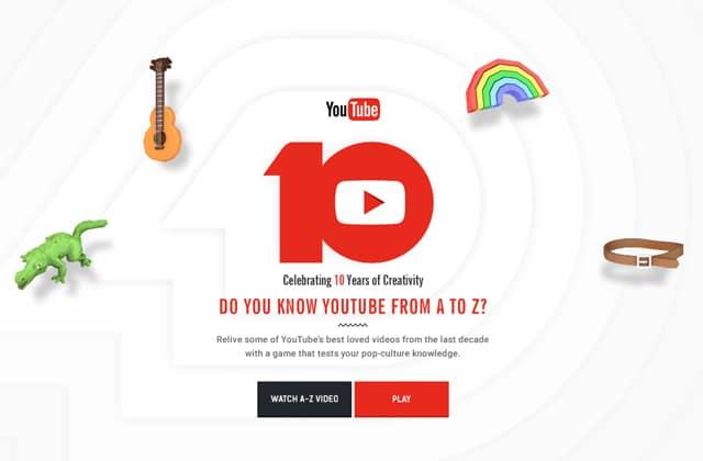 YouTube fête ses dix ans : as-tu bien tout suivi ?