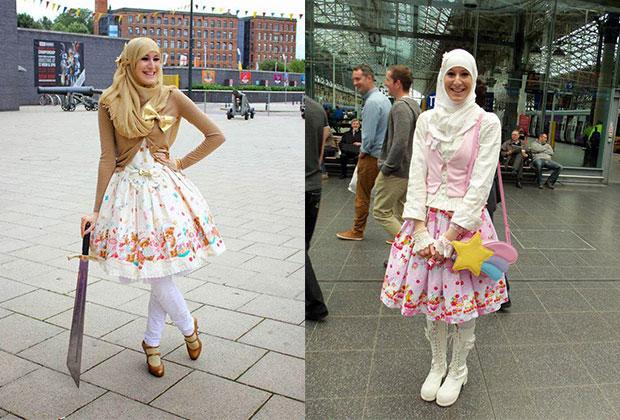 Deux amies musulmanes et fans de culture japonaise ont décidé de mêler leur passion et leurs convictions religieuses dans un style vestimentaire joli et