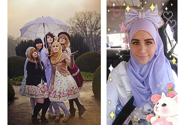 the hijabi lolita ou comment m ler hijab et mode japonaise. Black Bedroom Furniture Sets. Home Design Ideas