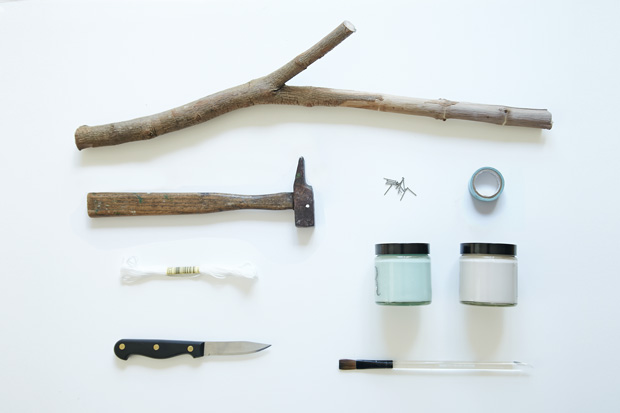 DIY_porte_bijoux_branche_materiel
