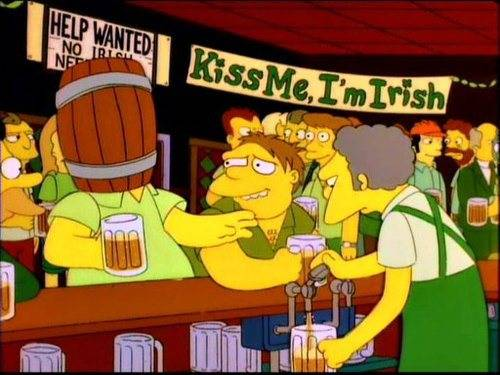 Homer Simpsons Kiss me i'm irish