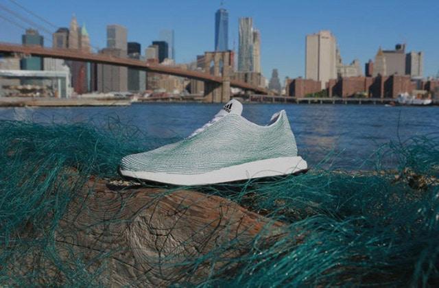 Adidas crée des baskets en recyclant les déchets plastiques des océans