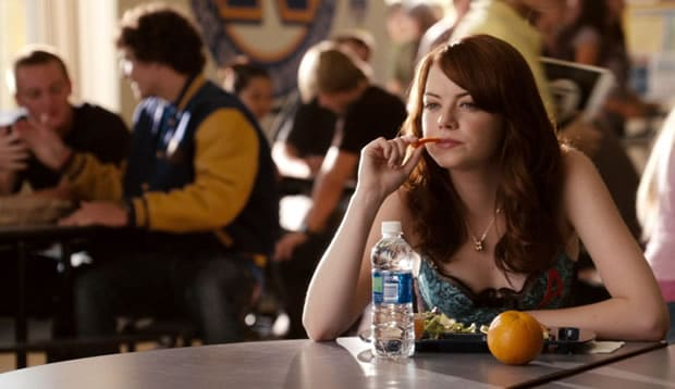 easy a emma watson alone lunch