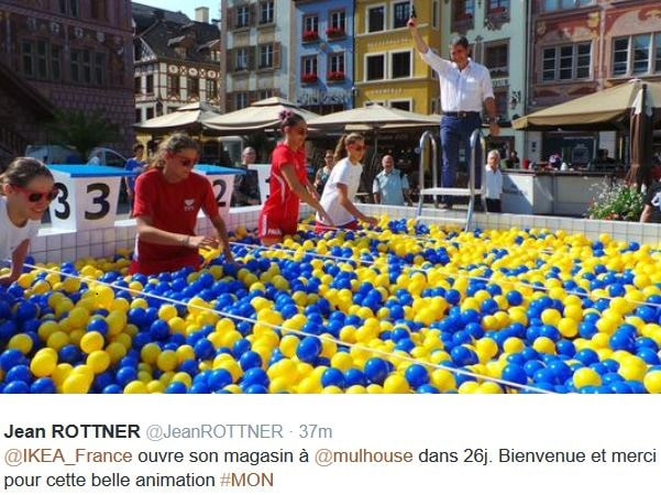 Ikea installe une piscine boules mulhouse for Piscine olympique mulhouse