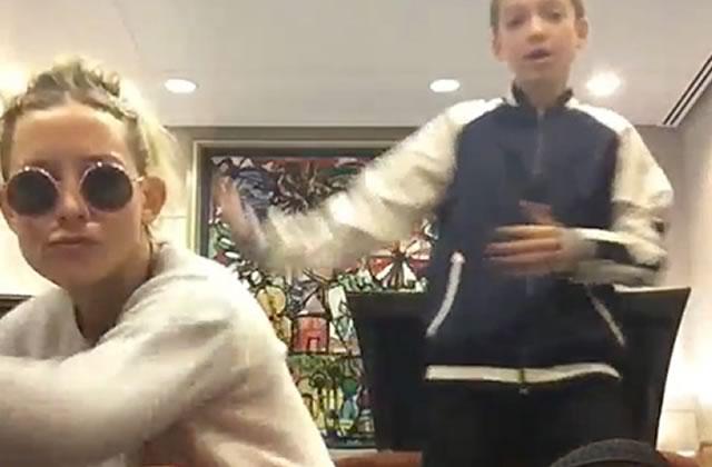 Kate Hudson danse sur Trap Queen avec son fiston à l'aéroport