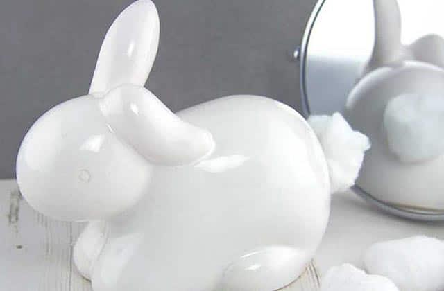 Le lapin distributeur de coton, un gadget WTF mais mignon