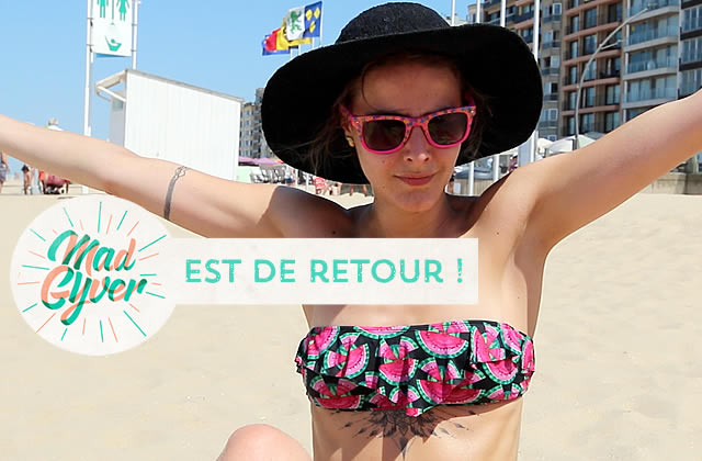 Mad Gyver à la plage (+ making-of) !