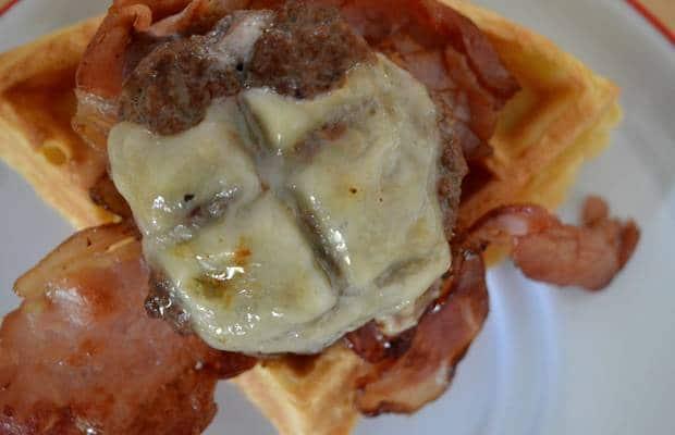 waffle burger comte fondu