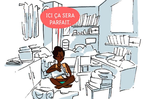 Les petits appartements, leur UNIQUE avantage… et leurs inconvénients — Le dessin de Cy.