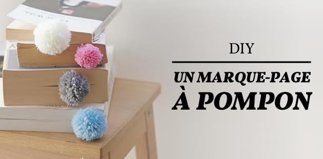 DIY — Le marque-page à pompon