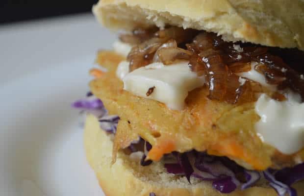 burger galettes gorgonzola