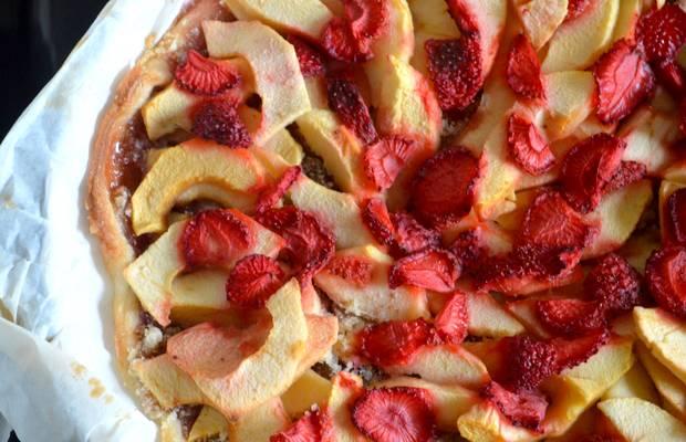 tarte aux fraises et pommes