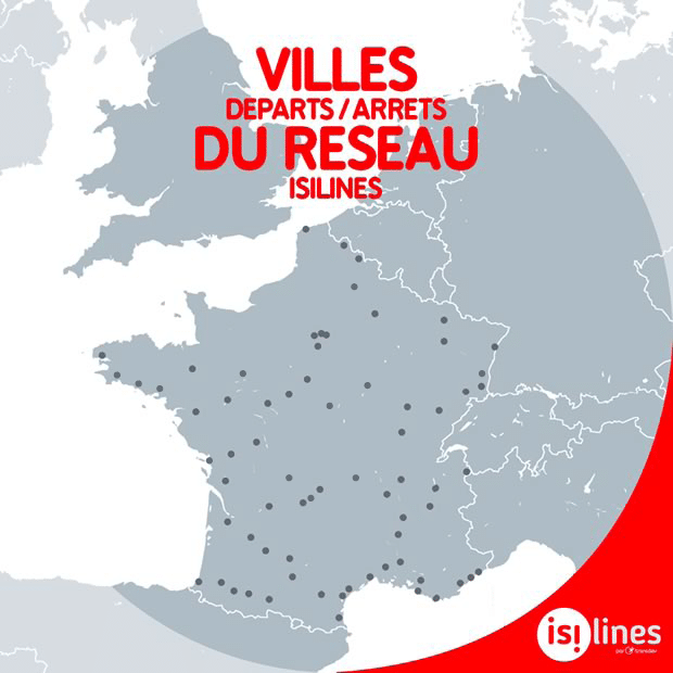 Carte France isilines