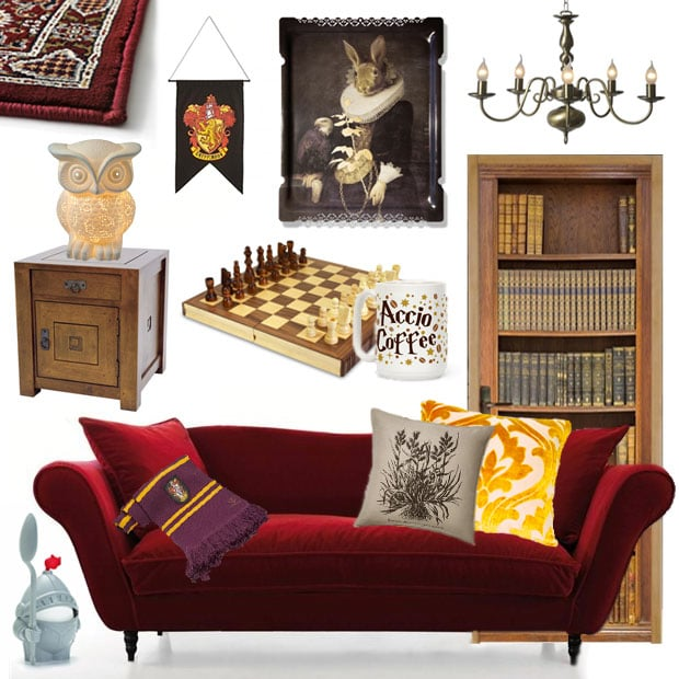 get the d co la salle commune de gryffondor dans harry potter. Black Bedroom Furniture Sets. Home Design Ideas