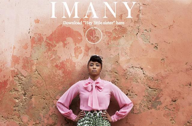 Imany propose «Hey Little Sister», son nouveau titre, en téléchargement gratuit