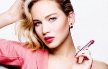 Jennifer Lawrence dévoile les nouveaux rouges à lèvres Dior