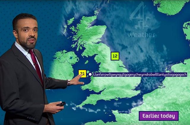 Un présentateur météo réussit sans souci à prononcer l'interminable nom d'une ville galloise