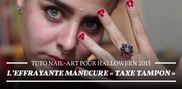 Tuto nail-art pour Halloween 2015 — L'effrayante manucure « taxe tampon »