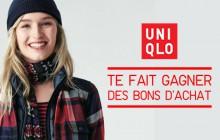 Concours Uniqlo — Des bons d'achat à gagner !