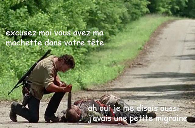 The Walking Dead S06E03 — Le récap (rigolo)