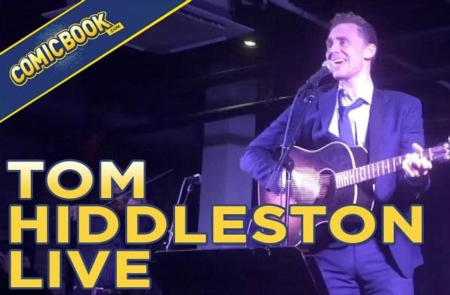 Tom Hiddleston (Loki de «Thor») donne un vrai-faux concert de country
