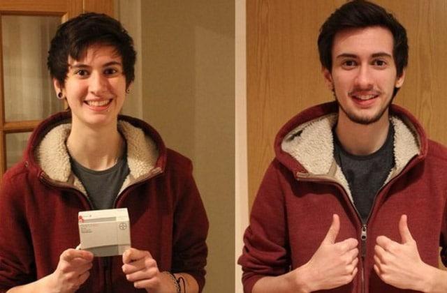 Un jeune homme trans relate sa transition en 1400 selfies