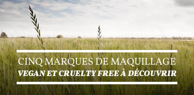 Cinq marques de maquillage vegan et cruelty-free à découvrir