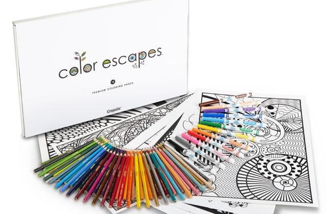 Crayola lance sa collection de coloriages pour adultes