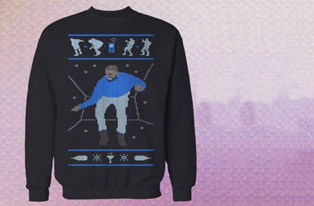 Le pull « Hotline Bling Dancing Drake » sera disponible pour Noël 2015