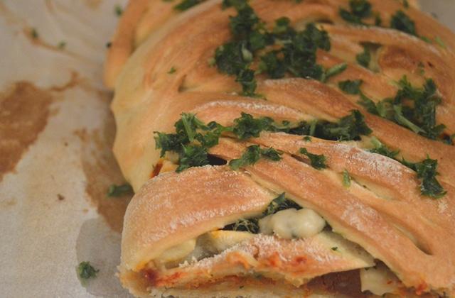 La pizza tressée — Recette végane & gourmande