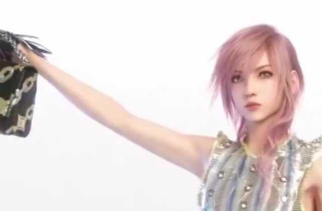 Lightning, de «Final Fantasy XIII», pose pour… Louis Vuitton!