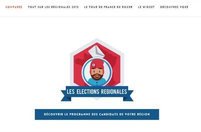 Voxe, le comparateur de programmes pour les élections régionales 2015
