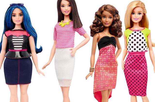 Barbie va proposer des poupées de différentes morphologies !