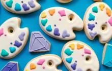 Des cookies multicolores illustrés, le goûter mignon ET artistique