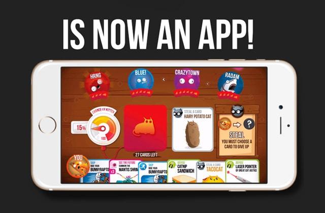 «Exploding Kittens», le jeu de cartes, est désormais une appli !