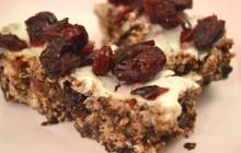 Recette des barres de granola chocolat/cranberries