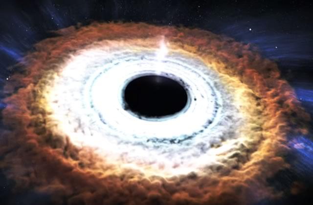 Un trou noir au cœur d'une vidéo incroyable et fascinante