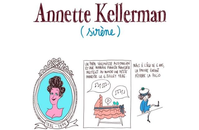 Annette Kellerman, la féministe sirène — Les Culottées, par Pénélope Bagieu