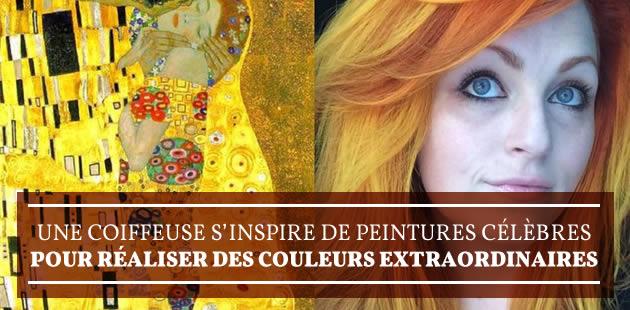 Une coiffeuse s'inspire de peintures célèbres pour réaliser des couleurs extraordinaires