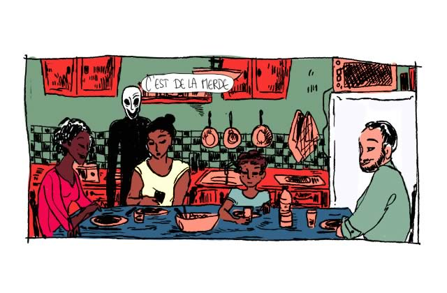 Violence «virtuelle » pour conséquences trop réelles —Le dessin de Mr.Q