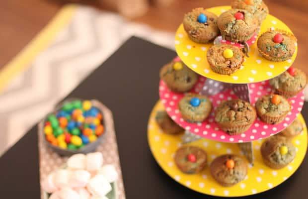 muffins multicolores