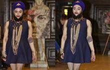 Harnaam Kaur, la jeune Anglaise barbue, a défilé pendant la Fashion Week de Londres !