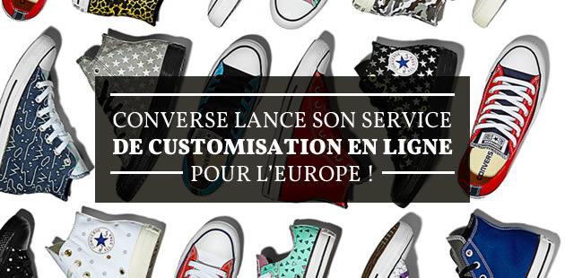 Converse lance son service de customisation en ligne pour l'Europe!