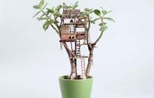 Les petites cabanes pour plantes d'intérieur, la dose de mignon du jour