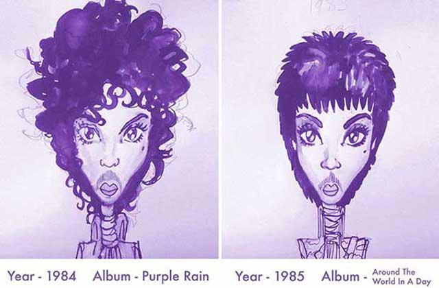 Prince en 35 ans de coiffures iconiques