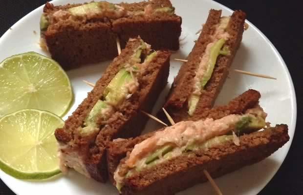 sandwichs saumon avocats