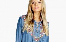 Sélection de vêtements en denim, matière phare du printemps 2016