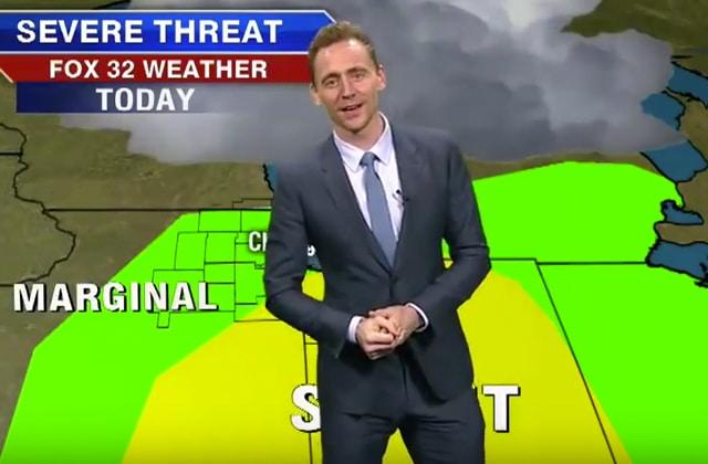 Tom Hiddleston joue le Mister Météo pour la télé américaine