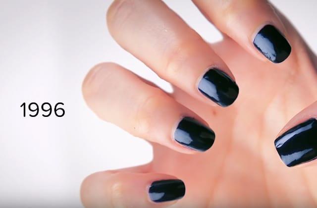 Un siècle de tendances nail-art résumé en vidéo